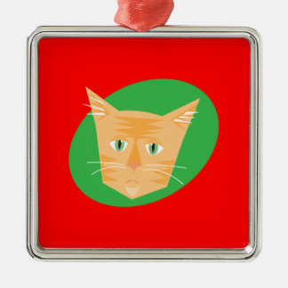 Reigning Cats & Dogs_Furry Faces_Peaches Metal Ornament