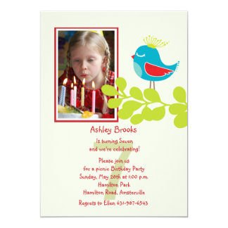 Reigning Chick Birthday Photo Invitation