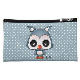 Reiji the owl cosmetic bag