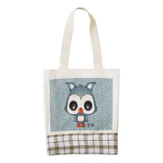 Reiji the owl zazzle HEART tote bag