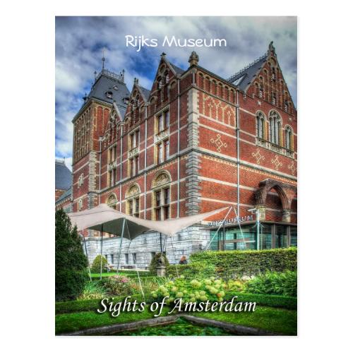 Reijks Museum, Sights of Amsterdam Postcard