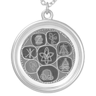 REIKI All n Individual Symbols Round Pendant Necklace