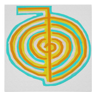 Reiki Alternative Natural Healing Symbol Chokurei Poster