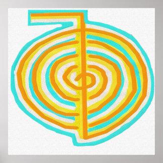 Reiki Alternative Natural Healing Symbol Chokurei Poster