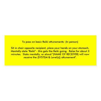 Reiki Attunements Double-Sided Mini Business Cards (Pack Of 20)