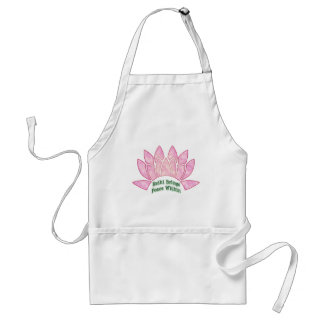 Reiki Brings Peace Lotus Adult Apron