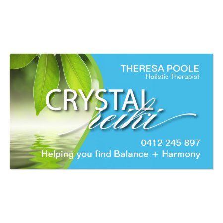 Blue and Green Reiki Business Cards