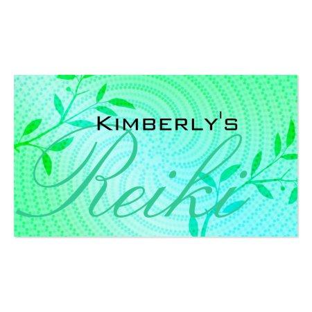 Blue Spiral Reiki Business Card Templates