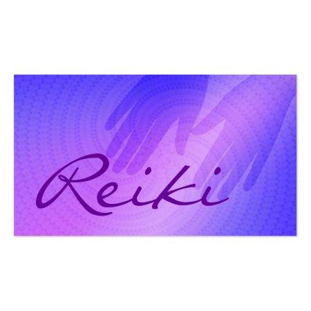 Purple Hands Silhouette Reiki Business Cards Profilecard