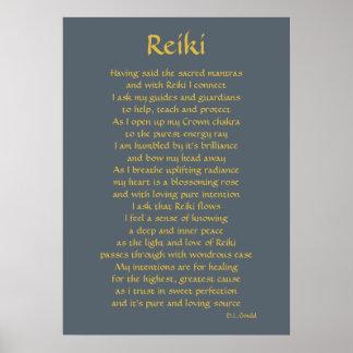 'Reiki Connection' poem art Poster