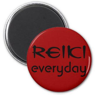 Reiki, everyday 2 inch round magnet
