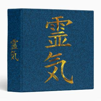 REIKI / GOLD 3 RING BINDER