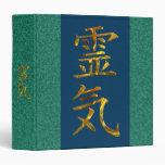 REIKI / GOLD | green splatter, dark blue Binder