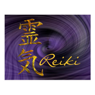 REIKI / GOLD, Reiki Postcard