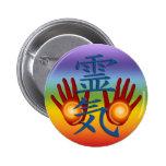 Reiki Hands 2 Inch Round Button