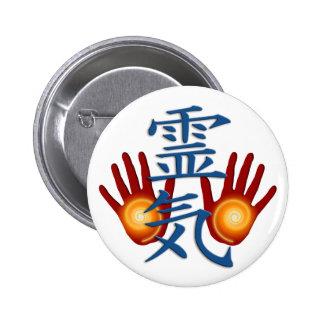 Reiki Hands Pinback Button