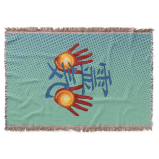 REIKI Hands Energy   your background Throw
