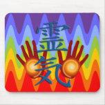 Reiki Hands   sinus chakren colors Mouse Pad