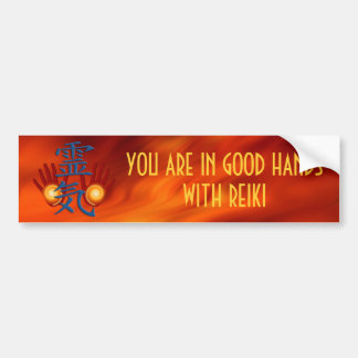 Reiki Hands & your text Bumper Sticker