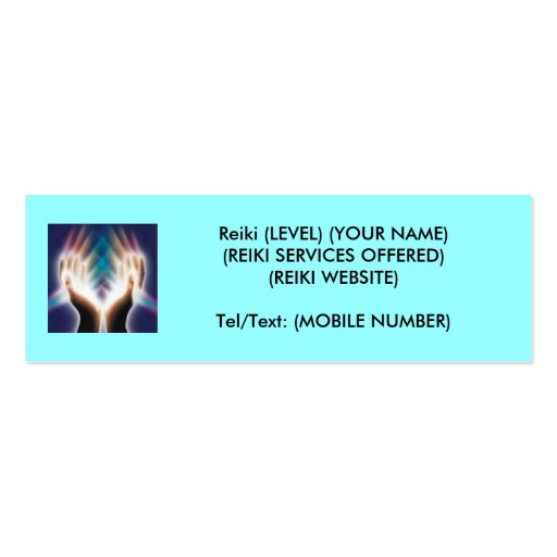 Reiki/Healing Double-Sided Mini Business Cards (Pack Of 20)