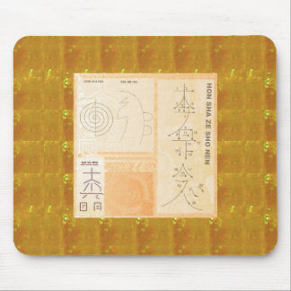 REIKI Healing Gold : Symbols Signs CRYSTAL Gold Mousepads