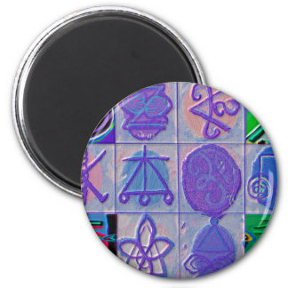 Reiki Healing Signs 12 Havenly blue 2 Inch Round Magnet