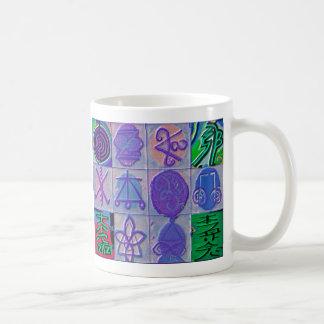 Reiki Healing Signs 12 Havenly blue Mugs