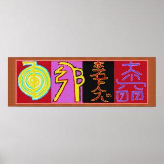 Reiki Healing Symbols 2010 Poster