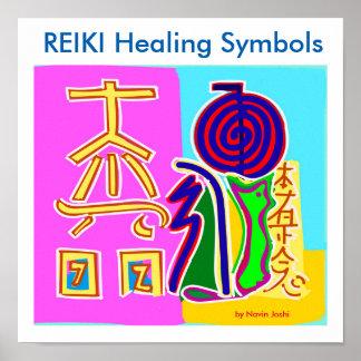 REIKI Healing Symbols 2016 by Master Navin Joshi Poster