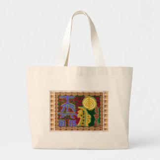 Reiki Healing Symbols by Navin Joshi Artist Canada Large Tote Bag