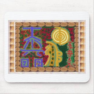 Reiki Healing Symbols by Navin Joshi Artist Canada Mouse Pad
