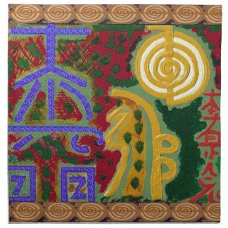 Reiki Healing Symbols by Navin Joshi Artist Canada Napkin