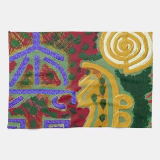 Reiki Healing Symbols by Navin Joshi Artist Canada Towels