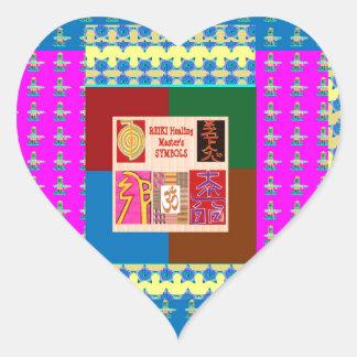 REIKI Healing Symbols on Full Energy Mandala Color Stickers