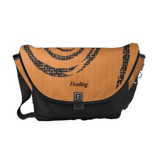 Reiki Healing : Tangerine Messenger Bag