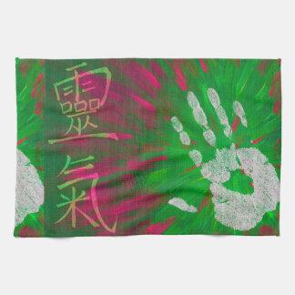 Reiki - Healings Hand Kitchen Towels