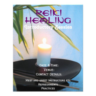 Reiki holistic health and wellbeing A5 flyer