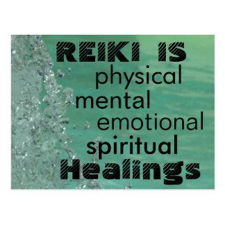 Reiki Is Healings Postcard