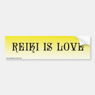 REIKI IS LOVE Bumper Sticker