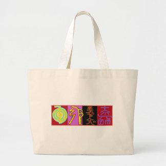Reiki Jumbo Tote Bag