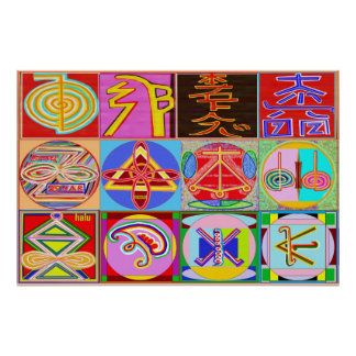 REIKI Karuna Healing Master s Symbols Posters