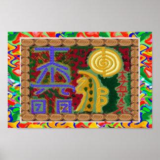 REIKI Karuna Healing Master's Symbols Poster