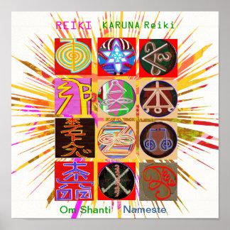 REIKI KARUNA Healing Symbols Poster
