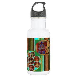 REIKI Karuna Healing Symbols Vintage CARE 99 Water Bottle