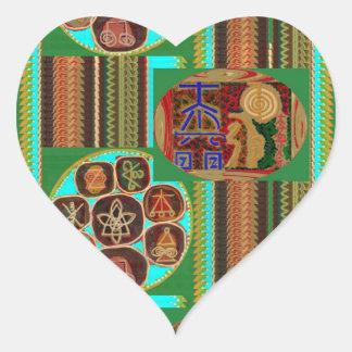 REIKI Karuna Healing Symbols Vintage CARE GIFTS 99 Heart Sticker