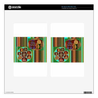 REIKI Karuna Healing Symbols Vintage CARE GIFTS 99 Kindle Fire Skin