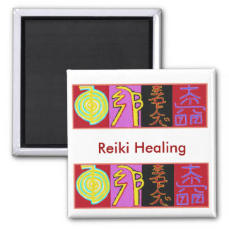 Reiki 2 Inch Square Magnet