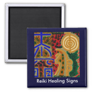 REIKI Main Healing Symbols 2 Inch Square Magnet