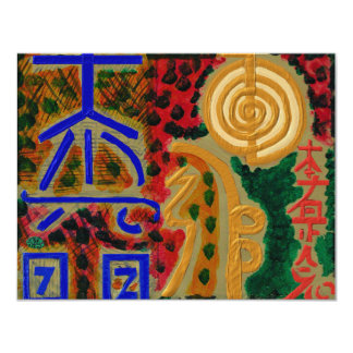 REIKI Main Healing Symbols 4.25x5.5 Paper Invitation Card