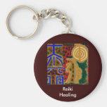 REIKI Main Healing Symbols Basic Round Button Keychain